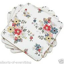 Set of 4 Leonard Collection Summer Daisy Coasters with Cork Backing
