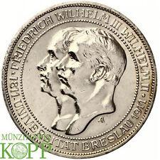 Z924) j.108 di Prussia 3 Mark 1911 a-Guglielmo II. 1888-1918 UNI Wroclaw