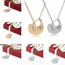 Sale Jewelry Unisex Necklaces Alloy Chain Sloth Pendant Gold/Silver Plated