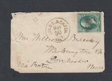 USA 1880s GOLDS & GREEN AGT RPO BANKNOTE COVER RICHMOND FREDRICKSBURG & POTOMAC