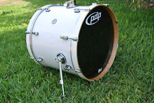 "PDP by DW 22"" CONCEPT MAPLE PEARLESCENT WHITE BASS DRUM for YOUR DRUM SET! #B548"