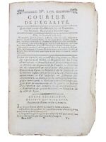 Rare Journal Révolution Française 1795 Guerre de Vendée Lyon Île d'Yeu Gillet
