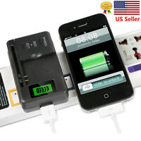 LCD Universal Indicator Battery Charger With USB Port For Cell Phone Camera New