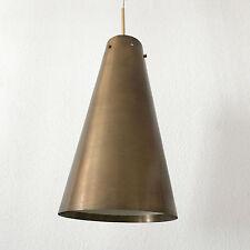 XL Mid Century Modern BRASS Hanging Light PENDANT LAMP Chandelier STILNOVO Era