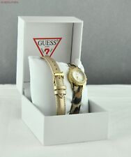 FREE Ship USA Chic Ladies Watch GUESS 2in1 Leather Steel Women Lovely