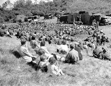 Photo. WW2. 1944. Canadian Army show - Canadian Soldiers & French Civilians