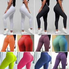 Women Girls High Waist Yoga Pants Fitness Leggings Exercise Gym Sports Trousers