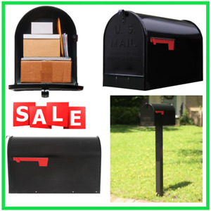Gibraltar Post Mount Mailbox Mail Box - EXTRA LARGE, Heavy Duty Galvanized Steel