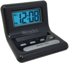 "Westclox 0.8"" Digital Display Snooze Travel Alarm Clock 47538A"