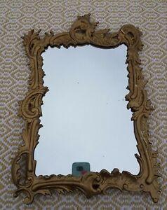Vintage Ornate IRON ART JM 56 Heavy Metal Standing picture frame mirror