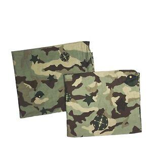 2 High End Boys Room Curtains Drapes Camo Army Corps Military Green GI Joe htf