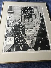 Vintage Rare New York Broadway plays lithograph print signed Stella Roosevelt