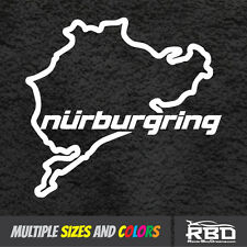 "4-5"" NURBURGRING Sticker Funny JDM Vinyl BMW Honda Race Car Track Window Decal"