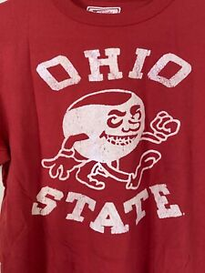 New Old Stock Vintage Ohio State Buckeyes Baseball T-Shirt Red Adult XS/S/L/XL