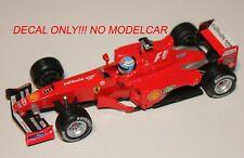 Decal Ferrari F399  Belgian GP 1999 Hotwheels 1/43 Salo Irvine
