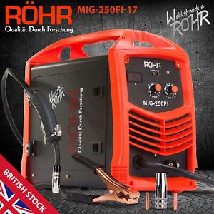 ROHR MIG Welder Inverter IGBT 240V / 250 amp DC Gas Flux Wire Welding Machine
