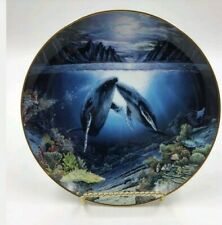 A lot of 3 Underwater Paradise plates by Robert Lyn Nelson-The Danbury Mint 1991