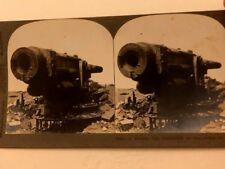 WWI ERA KEYSTONE STEREOVIEW PIC6602 A RUSSIAN GUN DISMANTLED BY WAR
