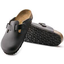 Birkenstock Boston Clogs LEDER schmal schwarz Hausschuhe Pantoletten 060193 NEU