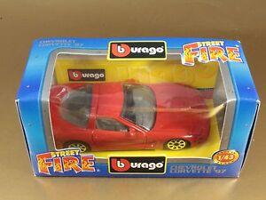 BBURAGO BURAGO 1/43 STREET FIRE #4166 CHEVROLET CORVETTE '97 1997 NIB[PH3-054]