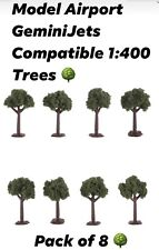 For Model Airport GeminiJets Compatible Airport Accessories 1:400 Trees 8-Pack