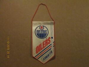 NHL National Hockey League Vintage 1990's Edmonton Oilers Logo Banner Pennant