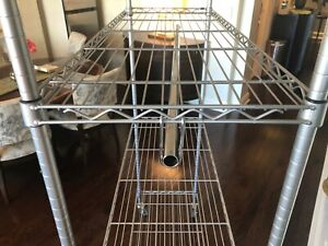 """Metro Commercial Rack Shelving  w/ 3 shelves and cover 48"""" X 18"""" X 63"""""""
