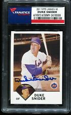 2001Topps Lineage 45 DUKE SNIDER New York Mets Auto Autograph Fanatics Authentic