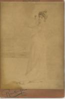 Reutlinger, Réjane, actrice vintage albumen print, carte cabinet, Gabrielle-Ch