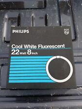 "3 NEW PHILIPS COOL WHITE FLUORESCENT 22 WATT 8"" CIRCLINE BULB FC8T9/CW FREE SHIP"