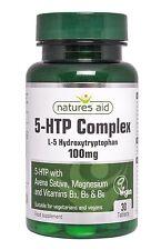 Naturalezas ayuda 5-HTP complejo 100mg 30 Etiquetas