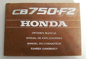 HONDA CB 750 F2 LIBRETTO USO E MANUTENZIONE ORIGINALE
