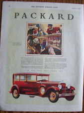 1929 Original Packard Eight Automobile Car Advertisement NICE