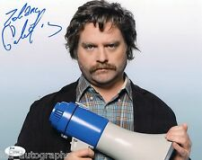 "Zach Galifianakis hand SIGNED Megaphone 8 x 10"" Photo JSA COA The Hangover"