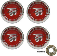 1967-1968 Mercury Cougar W/Magnum 500 Wheel Center Caps Red