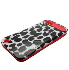 iPod Touch 5 6 Gen - HARD RUBBER ID CARD WALLET CASE BLACK PINK LEOPARD CHEETAH