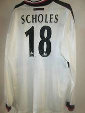 Manchester United 1997-1999 Scholes Away Football Shirt XL long sleeve 15453