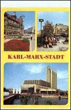 KARL-MARX-STADT Chemnitz Mehrbild-AK DDR Strasse d. Nationen, Hotel, Stadthalle