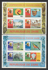 Zaire 1979 Wildlife/Tourism/Birds/Lion/Elephant/Waterfall/Diamond  2 x m/s b6825