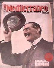 IL MEDITERRANEO 14 gennaio 1939 Chamberlain a Roma Sibari Crotone Tunisia Parma
