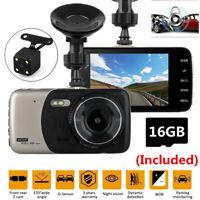 4'' LCD Full HD Car Camera DVR Vehicle Camcorder G-Sensor Dash Cams With SD Card