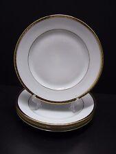 """Tiffany & Co. Limoges GOLD BAND D'OR Salad/Dessert Plates 9"""" / Set of 4"""