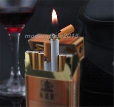 1pc Cigarette Shaped Windproof Jet Flame Butane Refillable Cigar Lighter Cool