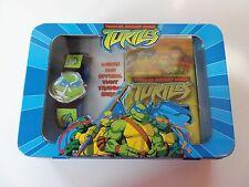 Vintage Leonardo Teenage Mutant Ninja Turtles TMNT Retro Watch & Cards NEW 2003
