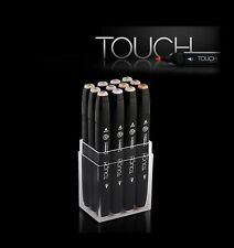 ShinHan Art TOUCH TWIN 12 Marker Set Twin tips - 12 SKIN TONES