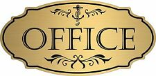 "Gold ""Office"" Door Sign Wall Plaque Nautical Boat Beach - Free Shipping"