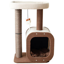 New listing Catry, Cat Tree Condo with Activity Center in Natural Jute Fiber
