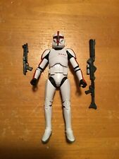Star Wars Black Series Phase 1 Clone Trooper Captain action figure red AOTC
