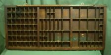 Old Letter Press Typeset Drawer w/Brass Accents 19A043