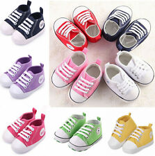 Baby Sneakers Fashion Breathable Soft Sole Casual Canvas First Walkers Shoes